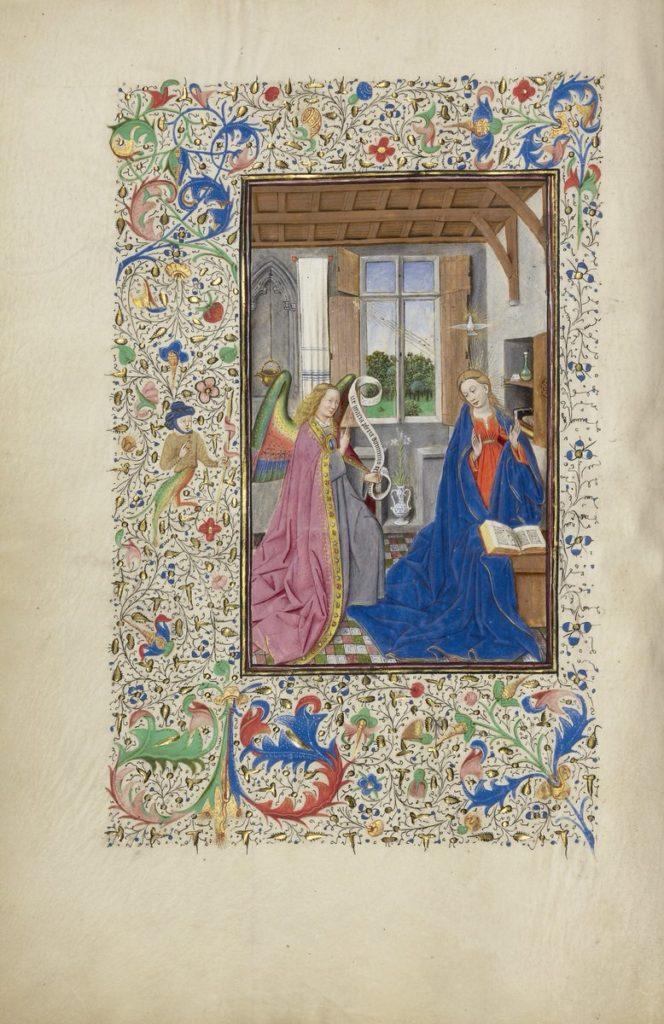 08-Het Llangattock-getijdenboek - De Annunciatie