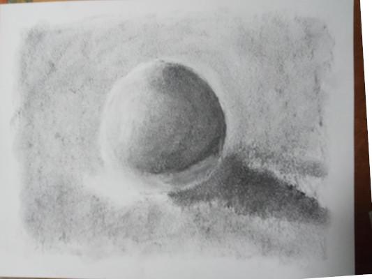 boule de ping du sight size au fusain