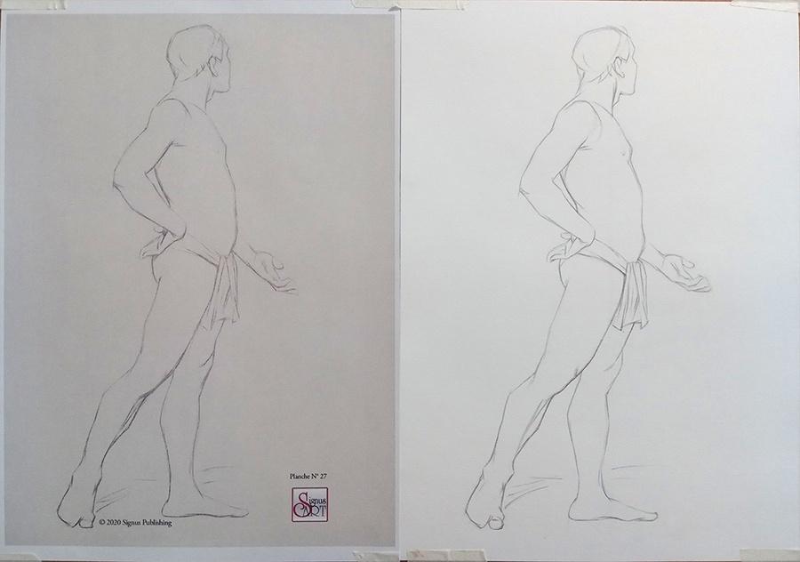 Nu - Modèle et dessin - Adelyne