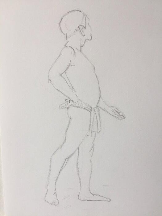 homme debout-crayon H- myvonne
