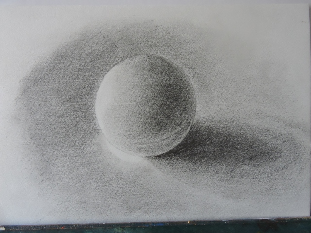 Balle de ping pong crayon HB (planche 1E)