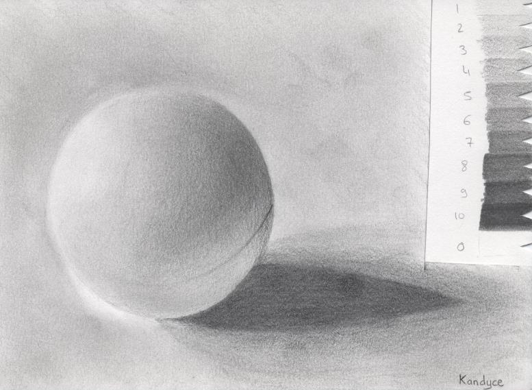 Balle de ping-pong avec charte de gris (fais avec modèle sur écran d'ordinateur)