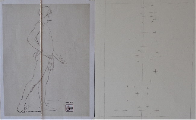 Planche III-27 - Points de repère - Crayon H - Marie-Claude