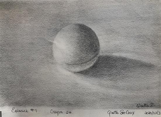 Exercice #1 Balle de PingPong crayon 2H (2e envoie)