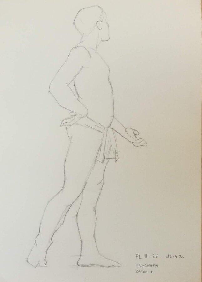 PL III-27 homme debout crayon H