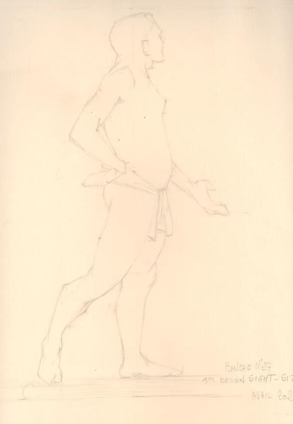 kaly-planche III27 -canson mi teinte - crayon h