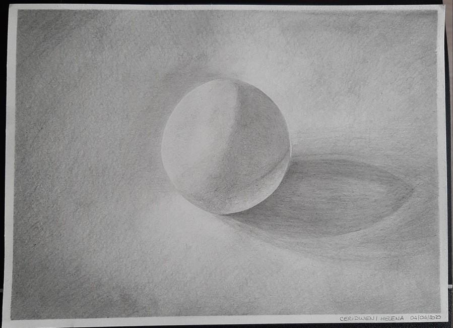 Helena/Ceridwen : correction de l'ombre et de la couture + quelques retouches (Papier gris perle, crayons H et HB par endroits seulement en touches)