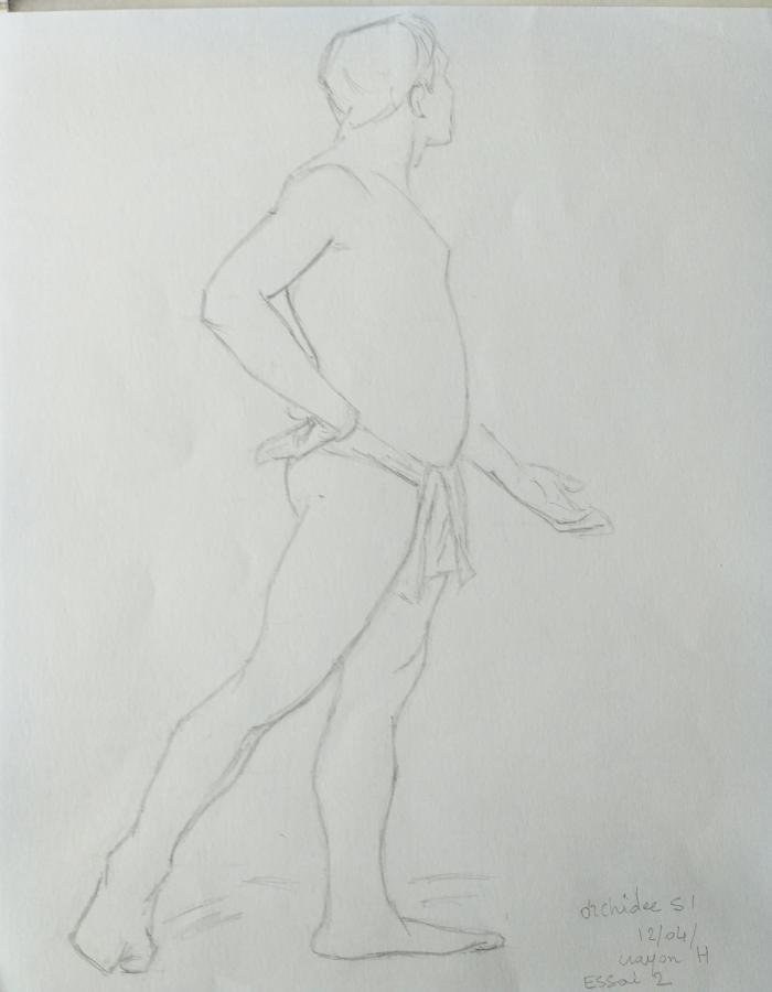 Homme debout graphite H essai 2 orchidee51